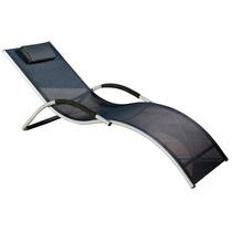 Espreguiçadeira Em Aluminio C/ Travesseiro E Encosto P/ Braç