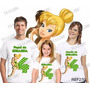 Lembrança De Aniversario Sininho Fadas Camiseta Kit Com 3