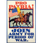 Pátria Exército Usa Soldado Período 1 2 Guerra Poster Repro