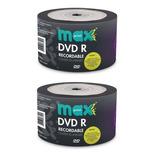 100 Dvd-r Virgem Maxprint Mídia Gravável  4.7 Gb 16x