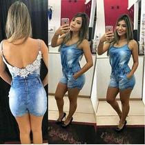 Macaquinho Jeans Macaquito Feminino