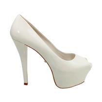 Peep Toe Schutz High Heels Branco