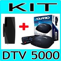Kit Conversor Tv Digital Aquario + Antena Interna - H D M I