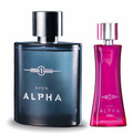 Kit Alpha Desodorante Colônia Spray Masculino E Feminino