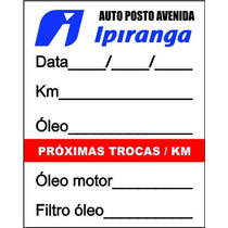 1000 Etiquetas Adesivas Troca De Óleo De Moto 3 Cores