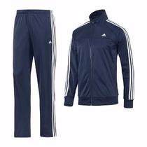 Conjunto Abrigo Agasalho Blusa Adidas Adulto Inverno Frio A