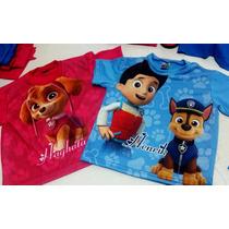 Camiseta Camisa Patrulha Canina Paw Patrol Chase Skye à
