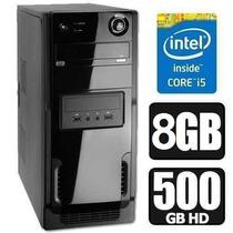 Pc Cpu Intel Corei5 3ªgeração+8gb Ram+hd 500gb Garantia 1ano