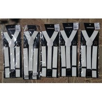 Suspensórios Brancos - Ajustáveis - Novos