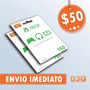 Microsoft Gift Card 50 D�lares Cart�o Presente Xbox Live Usa