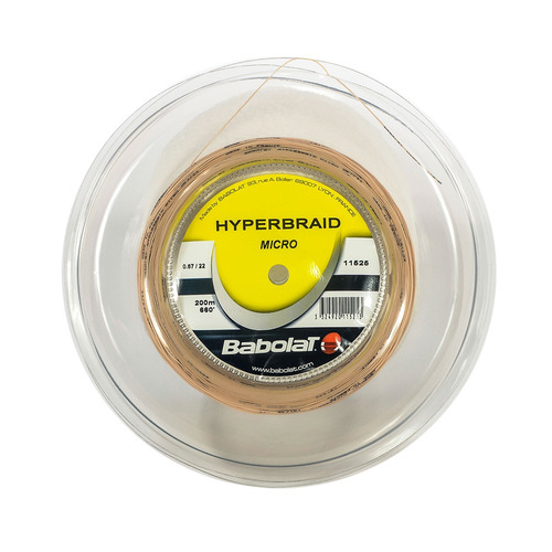 Corda Hyperbraid Micro Badminton Rolo 200 Metros Branca