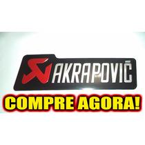 Emblema Adesivo Alumínio Alta Temperatura Akrapovic
