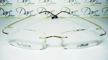 Armação Oculos De Grau Silhouette Sem Aro Titanium Gold. R  79.99 1c72db0b46
