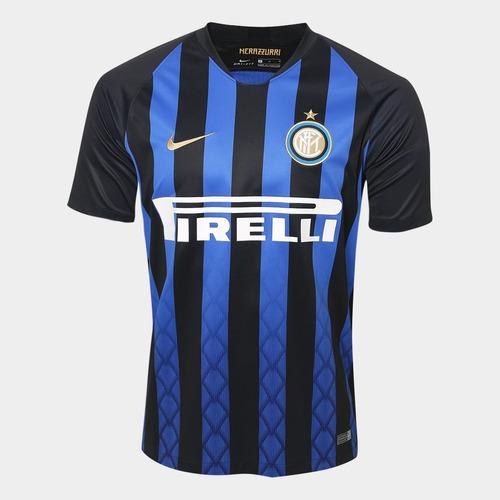 Camisa Inter De Milão 2018 2019 Home Frete Grátis. R  120.89 6fd808f9ffa8a