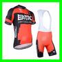 Uniforme Ciclismo Bmc Team 2015 (jersey + Bretelle)