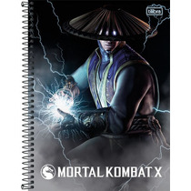 Caderno Espiral Tilibra Mortal Kombat 10 Matérias 200 Folhas