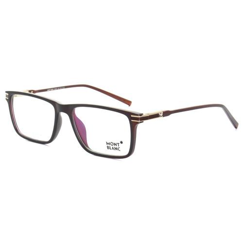 47cf55c60e44a Armação Óculos De Grau Masculino Mont Blanc Mb568 Acetato