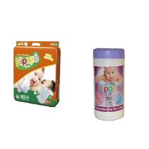 Fralda Hipopó Baby-80 Fraldas Tamanho M+70 Lenços Umedecidos