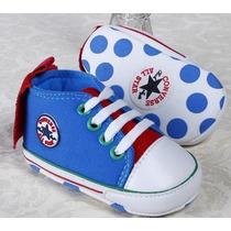 Sapatinho Tênis Bebe All Star Converse Azul Anti Derrapante