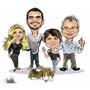 Caricaturas Noivinhos Convite De Casamento Familia Desenho