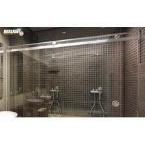 Kit Box Light F1 Cromado 2,00m Banheiro Vidro Temperado