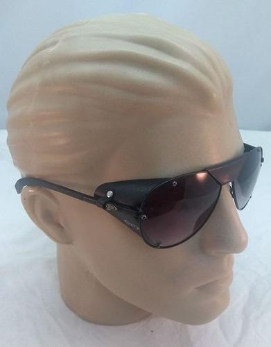 58ca9a10c8a09 Oculos Aviador, Com Proteçao Lateral De Couro.
