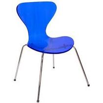 Cadeira Jacobsen Tubular Em Inox Para Salão De Cabeleiro