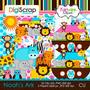 8 Kits Scrapbook Digital - Arca De Noé + Envio 10 Min
