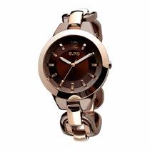 Relógio Euro Feminino Eu2035lqb/3m Marrom - Frete Grátis