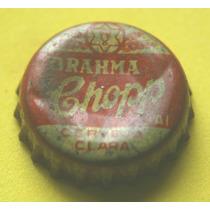 Tampinhas Antigas - Cerveja Brahma Chopp (fundo Amarelo)