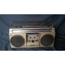 Radio E Toca Fita Antigo Sanyo M 9800 Bom Box