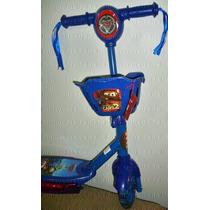 Patinet Infantil 3rodas Carros Mcqueen 2 Luz Musical Scooter