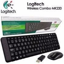 Teclado E Mouse Wireless Logitech Mk220 Usb Preto Sem Fio