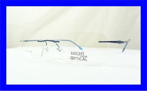 21d9dbc84 Armação Oculos Grau Azul De Feita De Titanium Sem Aro A526. Preço: R$ 69 99  Veja MercadoLibre