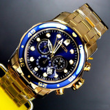 Relógio Invicta Pro Diver 0073 Original Masculino B. Ouro18k