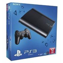 Playstation 3 Ps3 Super Slim 12 Gb - Slim Bivolt 3d Blu-ray