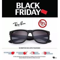 bb74f62d3 Oculos De Sol Ray Ban Justin Rb4165 Preto Masculino Polariza