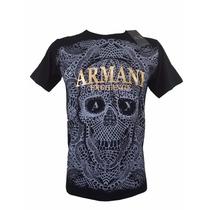 Camiseta Armani, Masculina, Manga Curta