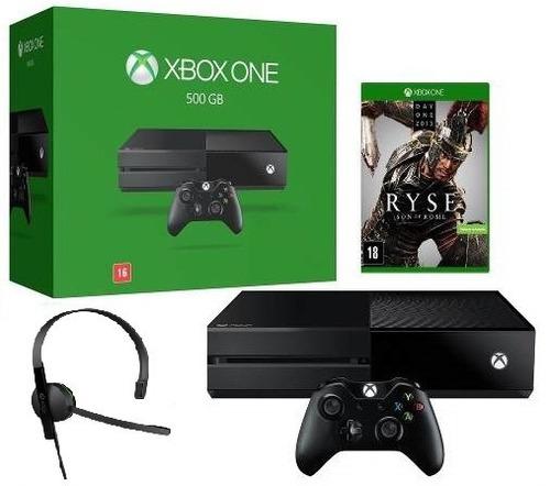Game Console Xbox One 500gb + Jogo Ryse Novo Na Caixa Xone