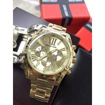 Relógio Dourado Prata Feminino Barato Promoção