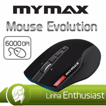 Mouse Gamer Mymax Evolution 6000dpi Preto