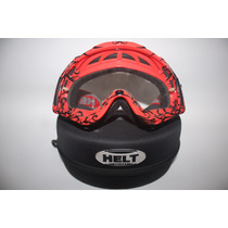Oculos Motocross Helt Vermelho