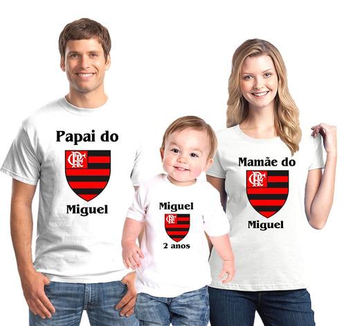 79e596cb7c Kit Camisetas Aniversário Flamengo Time Personalizada C 3 - R  84 en ...
