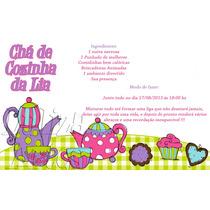 Arte Digital Convite Chá De Cozinha