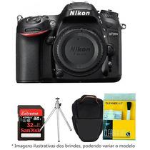 Câmera Nikon D7200 Corpo+bolsa+tripé+32gb C/10+kit Limpeza