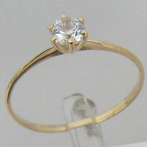 0906-412 Anel Solitário De Ouro 18k 750 Rpw
