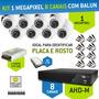 Kit Premium Ahd-m Dome - 8 Canais - Hd Em 1.0mp + Baluns