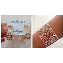 Conjunto Rommanel Brinco+bracelete Ana Hickmann 13º Edição