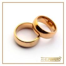 Alianças Ouro 8mm - Tugstênio Noivado Ou Casamento + Brindes