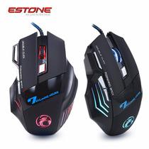 Mouse Gamer Jogos X7 Estone 7 Botões Led 2400 Dpi Usb